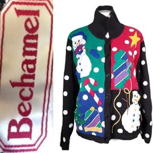 VINTAGE 3D Embroidery Christmas Sweater